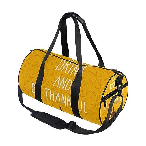 4ff0786668 Sports Duffel Bags Vintage Thanksgiving Day Corn Travel Gym Shoulder Bag  Tote Handbag Backpack for Men Women Kids Boy Girl  Amazon.ca  Luggage   Bags