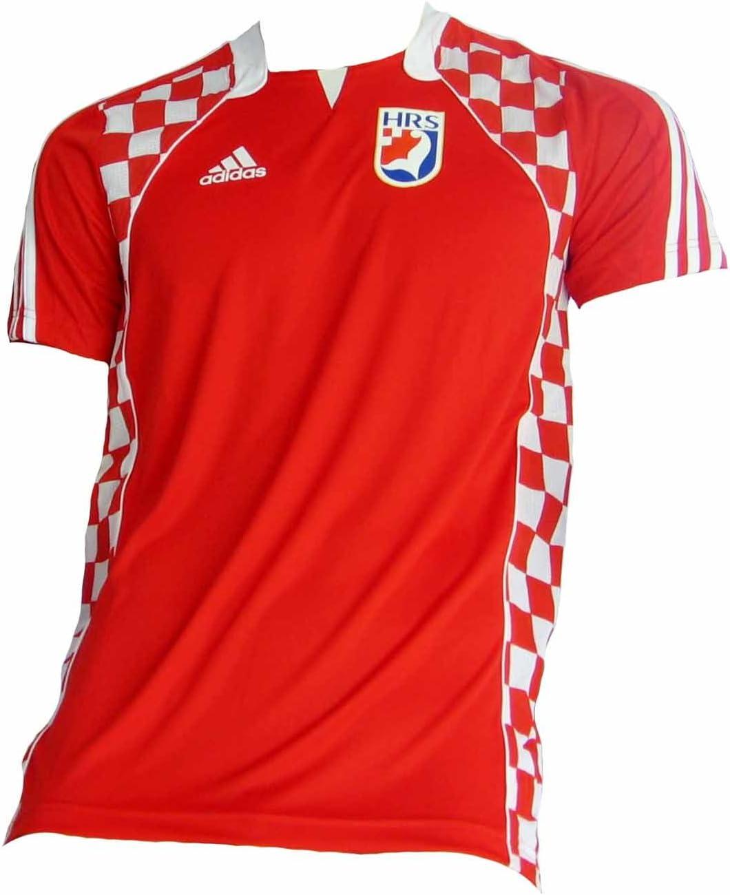adidas - Camiseta de la selección nacional croata de balonmano rojo rojo Talla:small: Amazon.es: Deportes y aire libre
