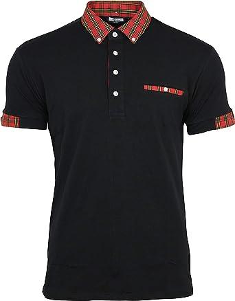 Relco - Polo - Camisas De Polo - Manga Corta - para Hombre Negro Negro S: Amazon.es: Ropa y accesorios