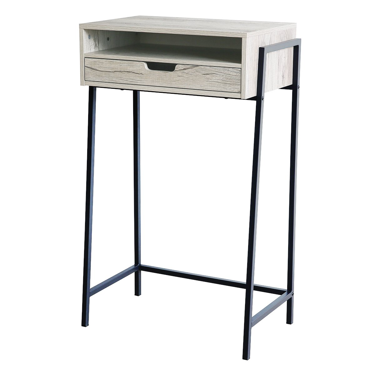 Furnigance Multi-use Standing Desk Stand Up Desk Workstation Mini Bar Snack Table with Storage Drawers for Home Office
