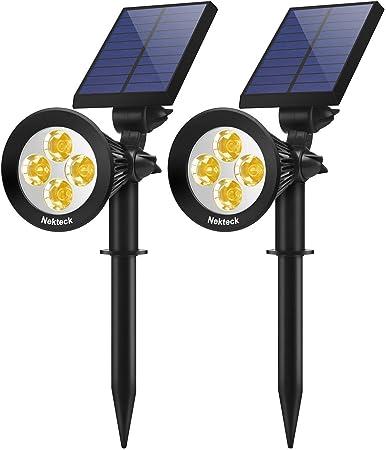 4 LED Outdoor Solar Garden Lamp Spot Light Lawn Landscape Spotlight Lighting US