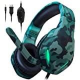 Stynice Gaming Headset for PC, PS4, Xbox One, Laptop, Crystal Clear Surround Sound Computer Gamer Headset with Noise Cancelin
