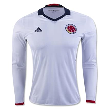 1ac051b5534 Amazon.com   adidas Colombia 2016 LS Home Soccer Jersey   Sports ...