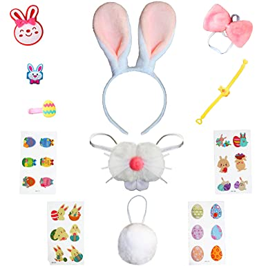 Spring Country Diadema de Conejo de Pascua Disfraz de Conejo para ...