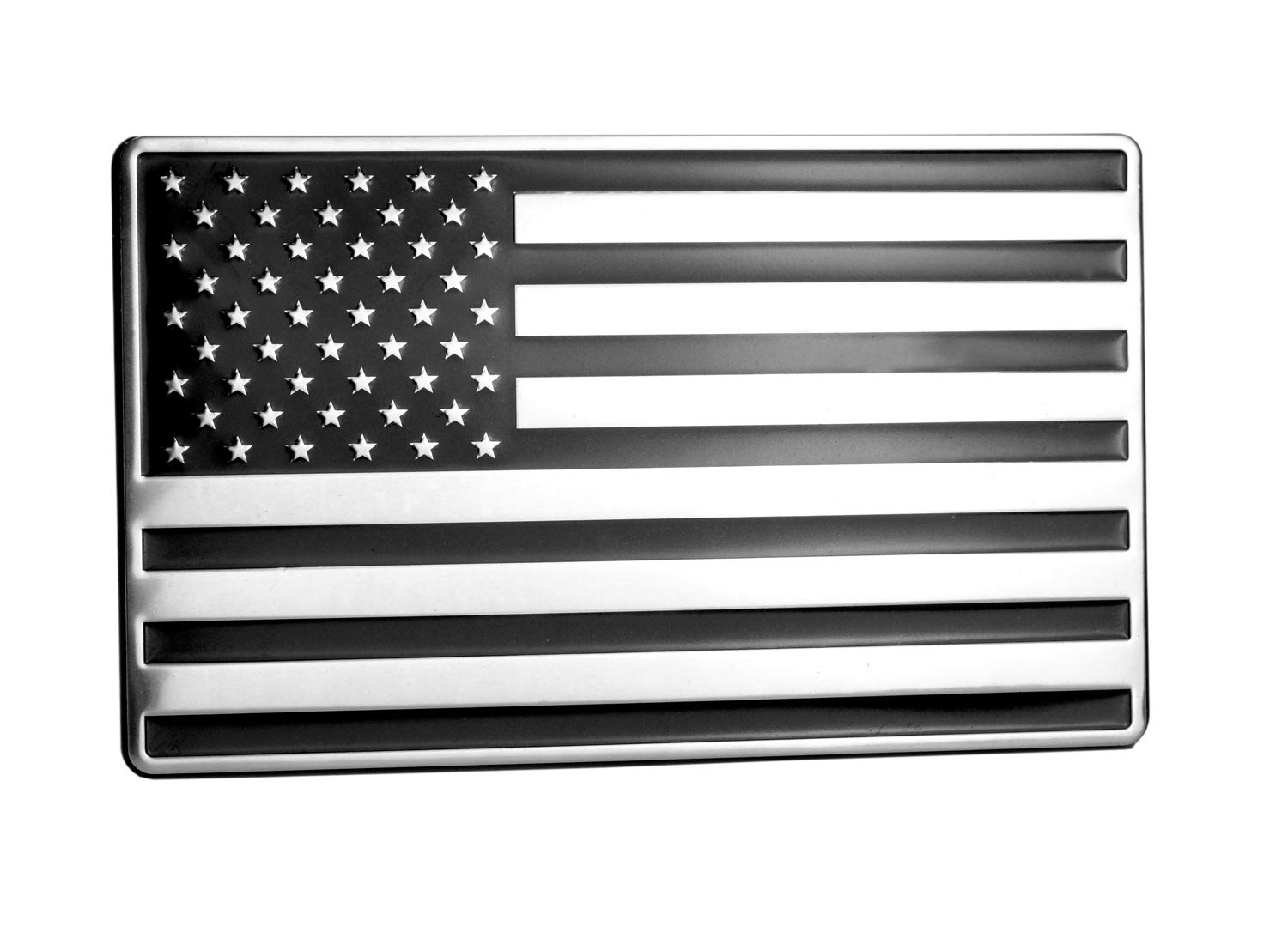 LFPartS USA US American Flag Emblem Metal Trailer Hitch Cover Fits 2 Receivers, Black /& Chrome with Thin Blue line