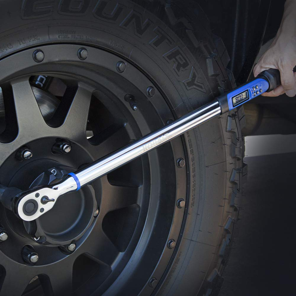 Kobalt 856839 1//2-Inch Drive 12.5-250 Foot-Pound Programmable Electronic Torque Wrench with Torque-Angle