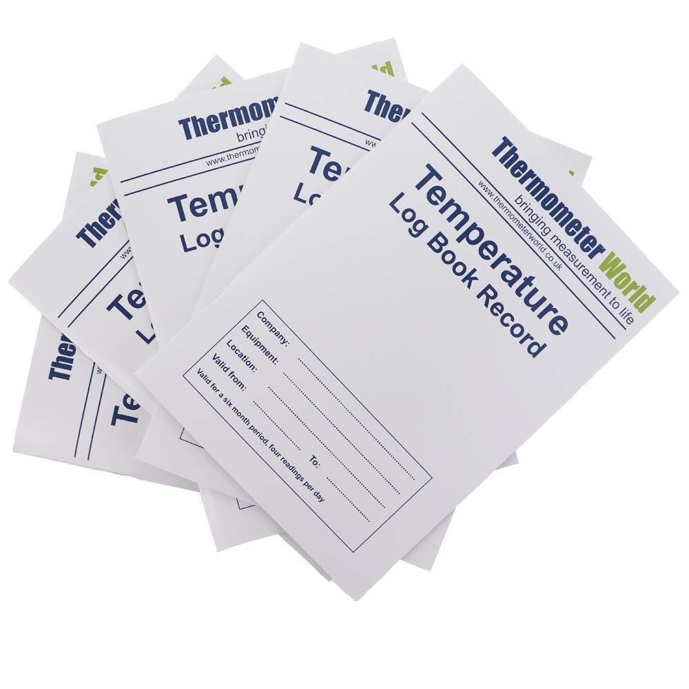 Pack de 5 x libros de registro de temperatura 6 Meses registros ...