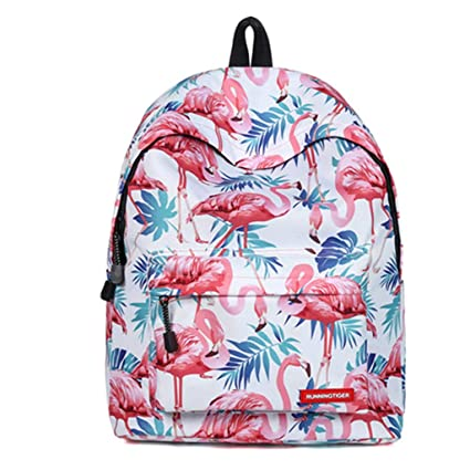 Amazon.com: Flamingo Travel Laptop Backpack Girl Teenage Schoolbag Casual Beach Bag Rucksack Weekend Bag Mochila Kids Gift Bag Daypack (A13): X-Mall
