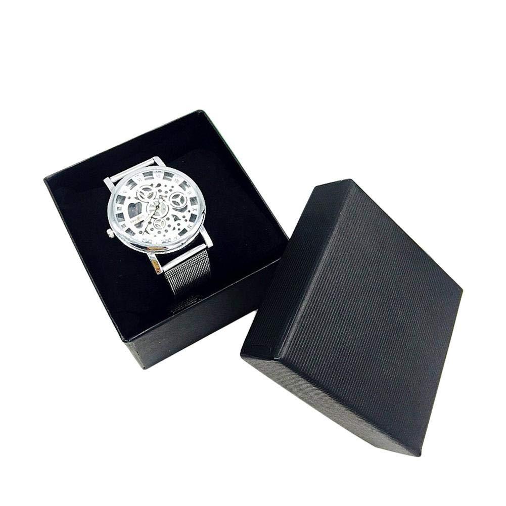 Depruies Fashion Watch Jewelry Organizer Watch Box Ring Bracelet Storage Case with PillowInner, SingleGrid