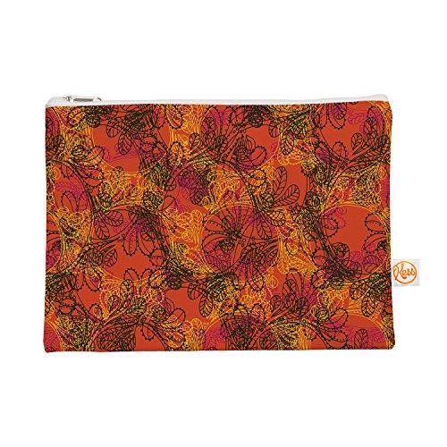 "Kess InHouse ""Jaipur Orange"" Everything Bag, 12.5"" x 8.5""..."