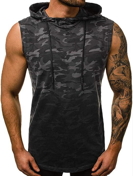 Camiseta de entrenamiento con capucha para hombre, diseño de ...