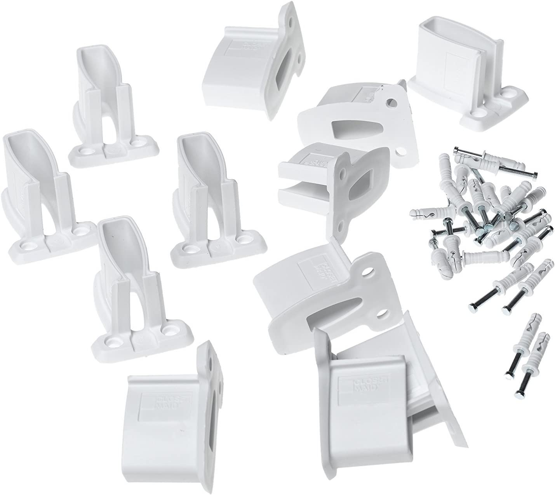 ClosetMaid 2178200 White Wire Shelf End Bracket bag of 12