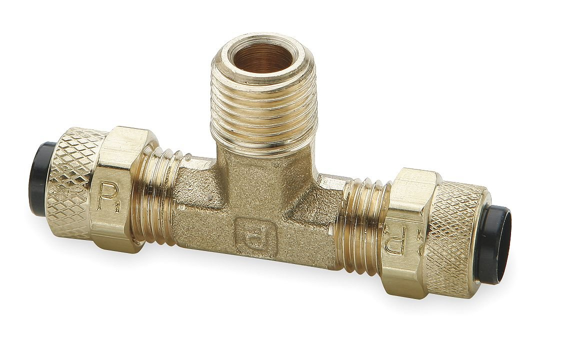 Brass Poly-Tite 1//2 and 3//8 Tube to Pipe Parker 172P-8-6-pk20 Compression Fitting for Thermoplastic and Soft Metal Tubing Compression and Male Pipe Branch Tee Pack of 20