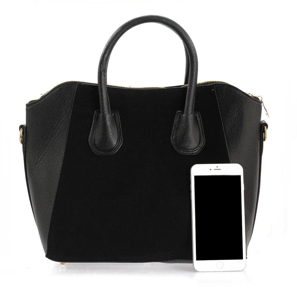 d58cae261428c FACILLA® Sac à Main Sacoche Bandoulière Epaule Croisé PU Noir Femme  Shopping OL 38x12x29cm: Amazon.fr: Vêtements et accessoires