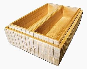 SplashSoup Bamboo Drawer Set 3 Caddies, Kitchen Accessory Holder, Home Office Desk Organizer, Counter Top Organizers