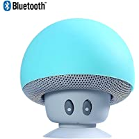 Sudroid Mushroom Mini Wireless Portable Bluetooth 4.1 Speakers with Mic for iPhone Ipad Laptop Samsung HTC Lg Sony Cell…