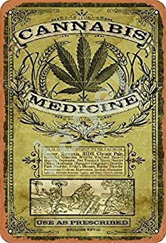 Jager Cannabis Sativa Retro Metal Decor Wall Plaque Vintage Tin Sign for House Cafe Club Home Or Bar