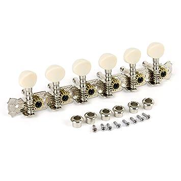 aklot cuerdas Clavijas de afinación llaves clavijas cabezales de la máquina para Classic guitarra eléctrica de repuesto abierto estilo 6R Inline Folk estilo ...