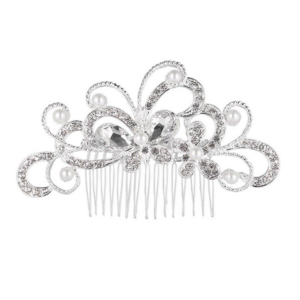 YAZILIND Mariée peigne jolie papillon incrusté de perles de strass Coiffe mariage Accessoires de cheveux YAZILIND JEWELRY LIMITE 1711T0071