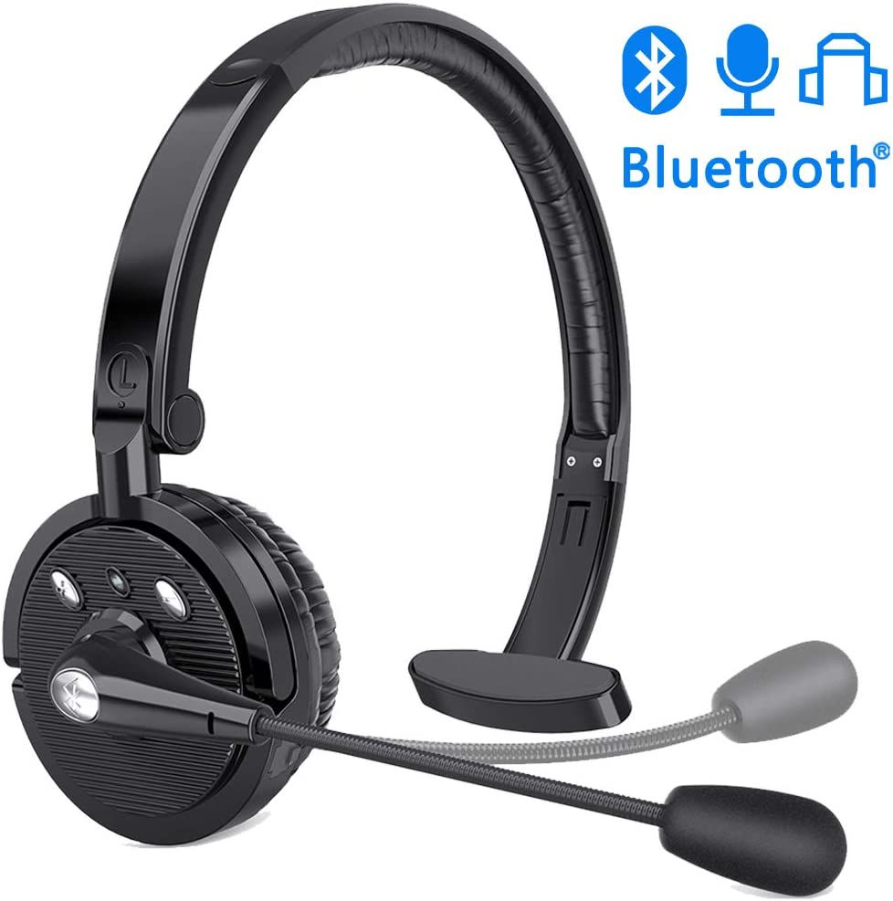 Amazon Com Zeonetak Bluetooth Headset Trucker Bluetooth Headset Handsfree Wireless Phone Headset With Charging Cable Noice Cancelling Bluetooth Headset With Microphone Suitable For Call Center Office Phone Home Audio Theater