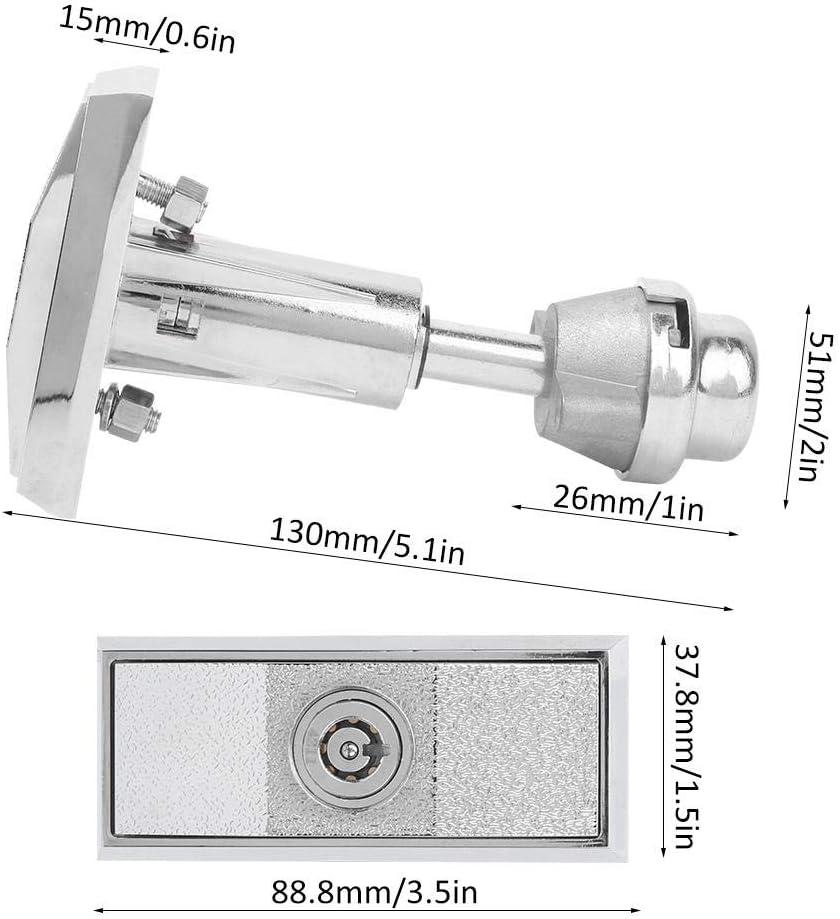 Cerradura universal para m/áquina expendedora de aleaci/ón de zinc soda m/áquina expendedora de cerrojo de seguridad con llaves aperitivos caja de seguridad para gabinetes