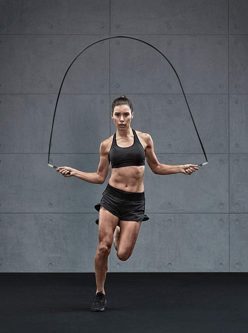 WEGOLIMME Cuerda Saltar Alta Velocidad Autobloqueo Ajustable 5mm Comba para Saltar Crossfit Fitness para Hombre y Mujer
