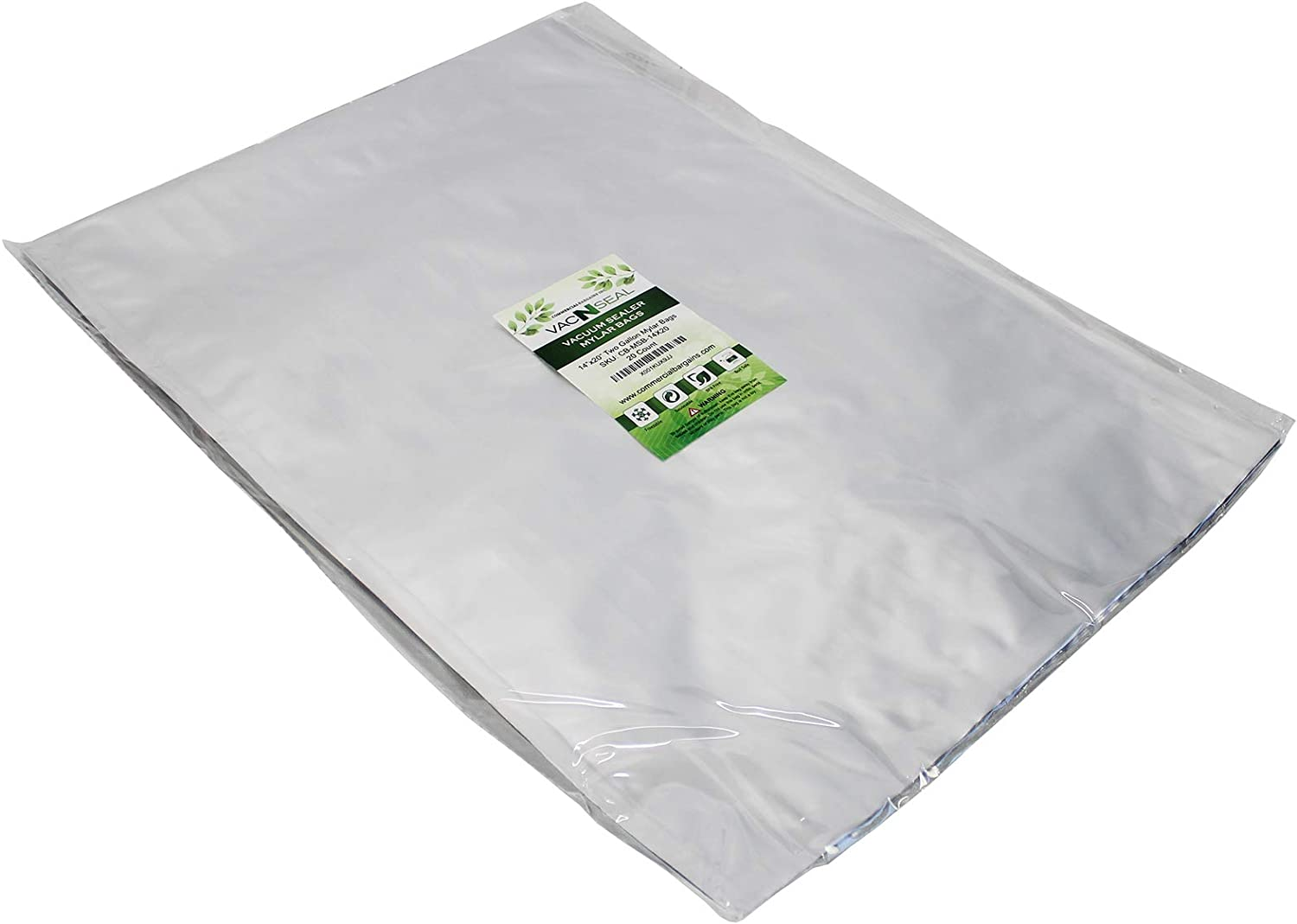 """(20) 14""""x20"""" Two Gallon Food Storage Mylar Bags And (20) 1000CC Oxygen Absorbers"""