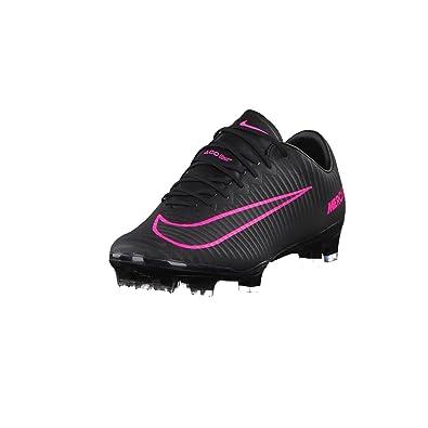 best service 6688f cf950 NIKE Men's Mercurial Vapor XI FG Black/Black/Pinkblast Shoes