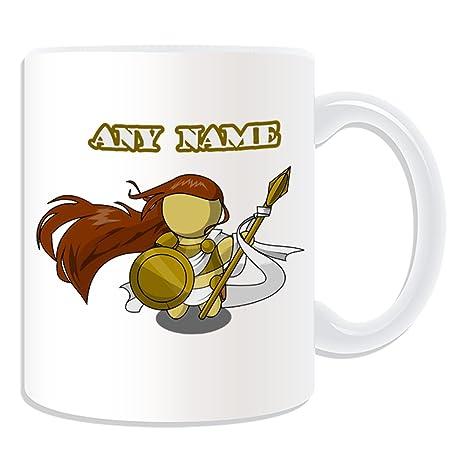 De regalo con mensaje personalizado - Athena taza (molde para hacer una diseño de,
