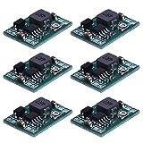 eBoot Mini MP1584EN DC-DC Buck Converter Adjustable Power Step Down Module 24V to 12V 9V 5V 3V, 6 Pack