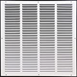 20''w X 30''h Steel Return Air Grilles - Sidewall and Cieling - HVAC DUCT COVER - White [Outer Dimensions: 21.75''w X 31.75''h]