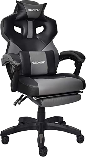 Gaming Chair Racing Office Chair High Back Computer Game Desk Chair E-Sports Game Chair Ergonomic Swivel Executive Reclining Chair