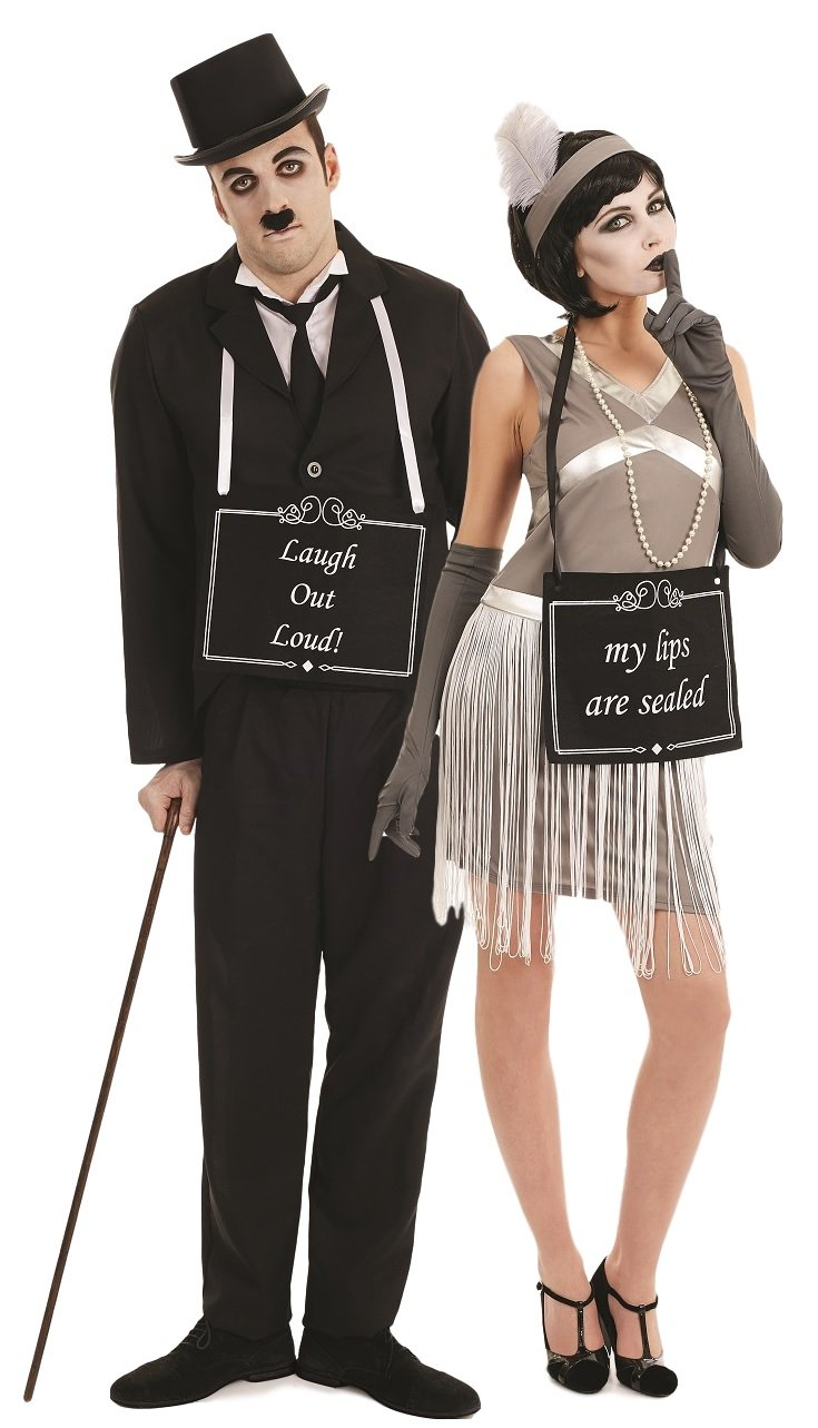 Couples Ladies u0026 Mens Silent Movie Stars Film Star Charlie Chaplin 1920s 20s Flapper Hen Do Stag Do Funny Novelty Fancy Dress Costumes Outfits (Ladies UK ...  sc 1 st  Amazon UK & Couples Ladies u0026 Mens Silent Movie Stars Film Star Charlie Chaplin ...