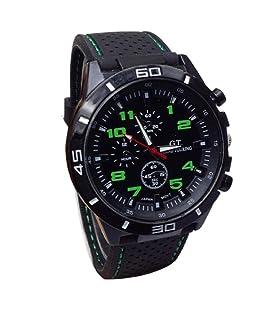 LuckUK Men's Sport Watches,Man Boy Sport Quartz Watch Military Watches Men Silicone Band Hours Wristwatch (B)