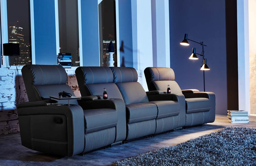 4er Kinosessel Cinema Relax Sofa Heimkino Sessel Tv Sofa