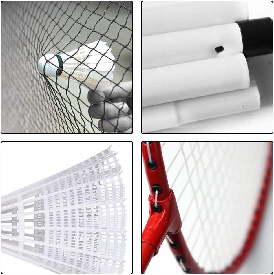 f/ácil instalaci/ón Airsnigi familia Juego de raquetas de b/ádminton para 4 personas con red para jard/ín incluyendo raquetas y volantes y m/ás b/ádminton para ni/ños