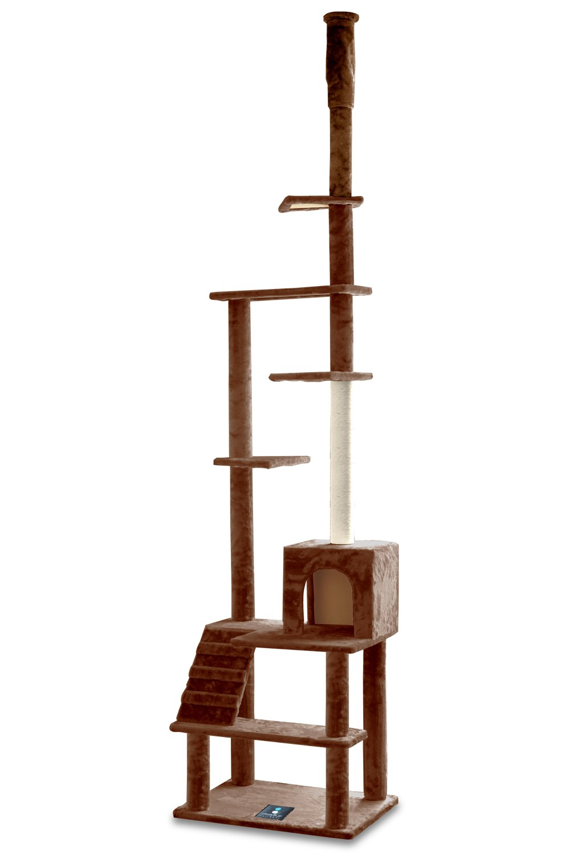 ottostyle.jp キャットタワー 突っ張り [PRINCE TOWER] ブラウン (1部屋、階段1個) 安定感抜群のつっぱり式 B014QUVXO6 ブラウン ブラウン
