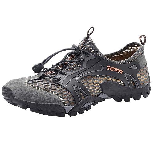 Beladla Zapatos Hombre Deportivos Resistente Respirable Calzado De Trail Running Mesh Casual Zapatillas Planas para Hombres: Amazon.es: Zapatos y ...