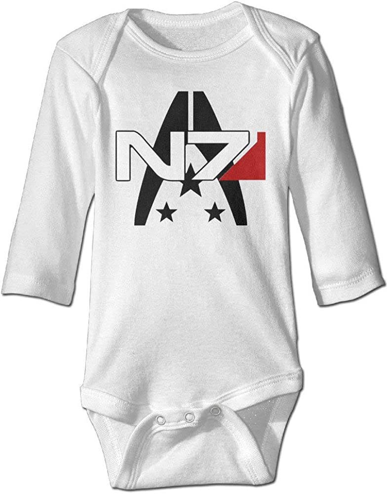 Axige888 GOOOET Unisex Baby Bodysuit Mass Effect Alliance N7 Logo Long-Sleeve Romper T-Shirt