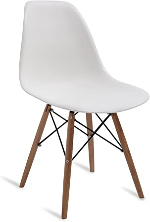 Chaise DSW Style Style Scandinave Beige 53.5 cm x 46.5 cm x 81.5 cm SANTANI MOBILI