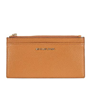 07c9ff24a6fa Image Unavailable. Image not available for. Color: Michael Kors Large  Pebbled Leather Card Case- Acorn