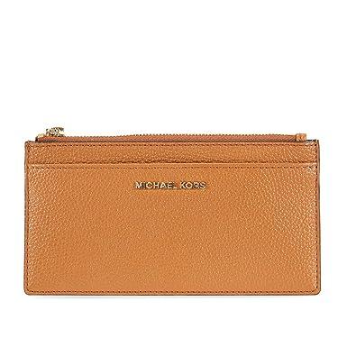 on sale d5cea 1e24c Michael Kors Large Pebbled Leather Card Case- Acorn