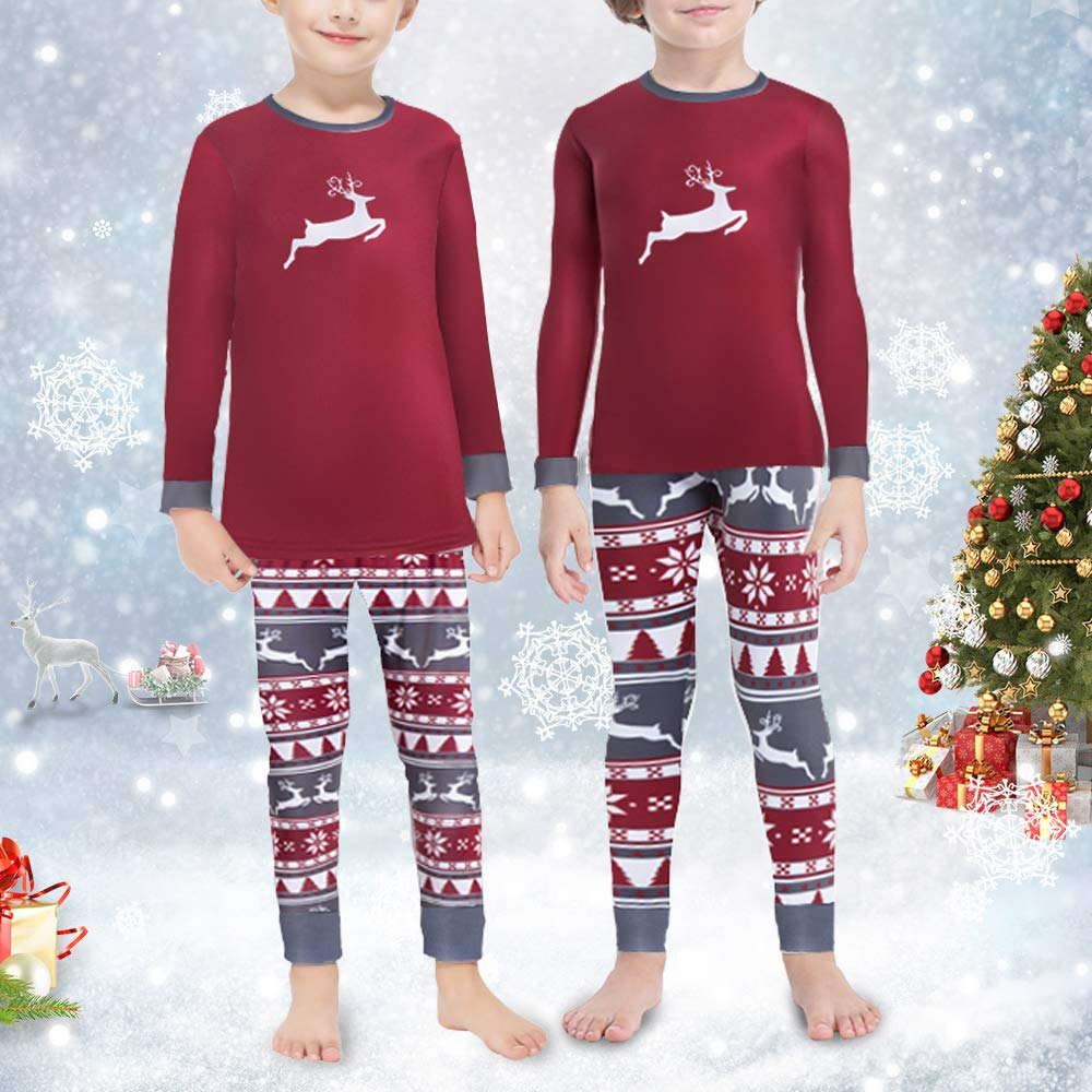 Subuteay Christmas Thermal Set for Family Fleece Lined Pajama Long Johns Underwear