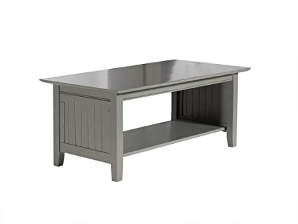 Terrific Atlantic Furniture Ah15309 Nantucket Coffee Table Wood 22 X 44 Grey Pdpeps Interior Chair Design Pdpepsorg