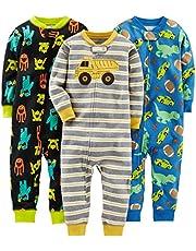Simple Joys by Carter's baby-boys 3-pack Snug-fit Footless Cotton Pajamas Pajama Set