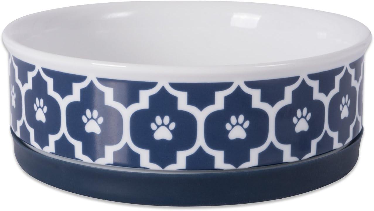 Bone Dry Lattice Collection Pet Bowl & Canister, Medium Round - 6 x 6 x 2