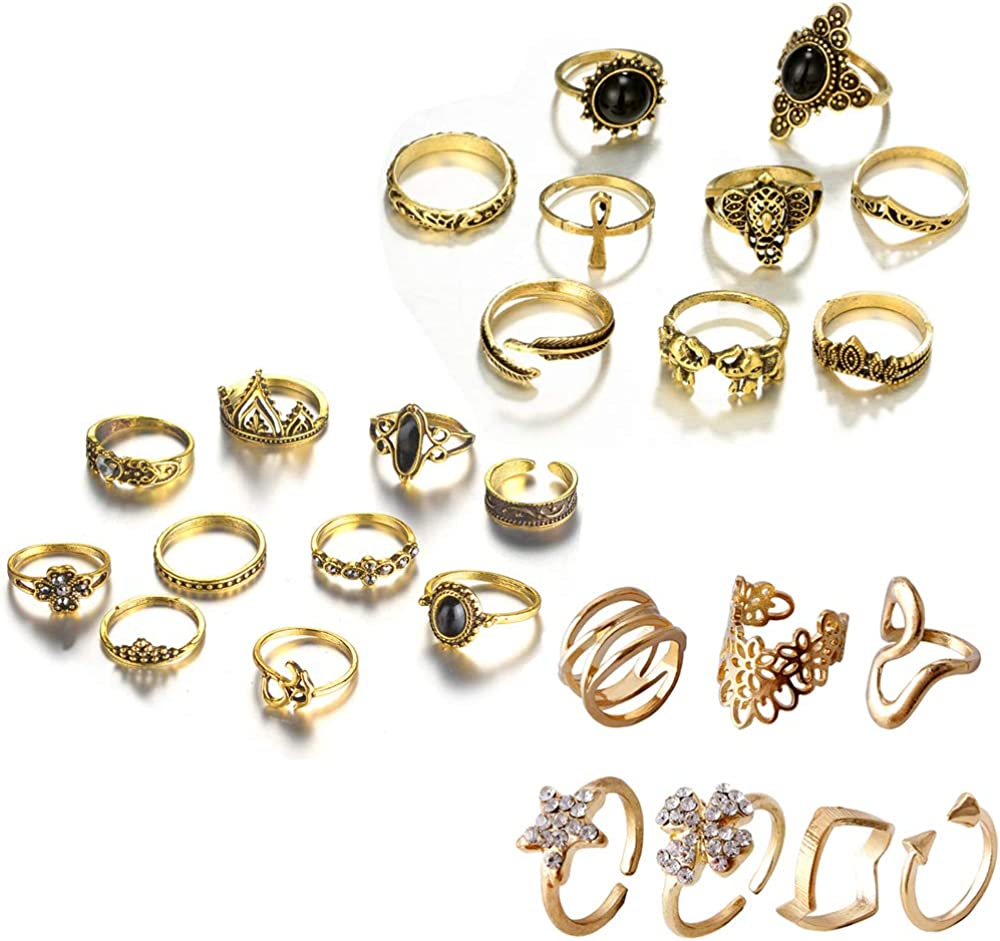 Ring Set Punk Alloy Knuckle Ringe Für Frauen 6 Pcs Fingerringebgl ox