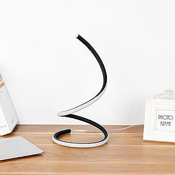 Minimalist S Curve LED Table Lamp Black