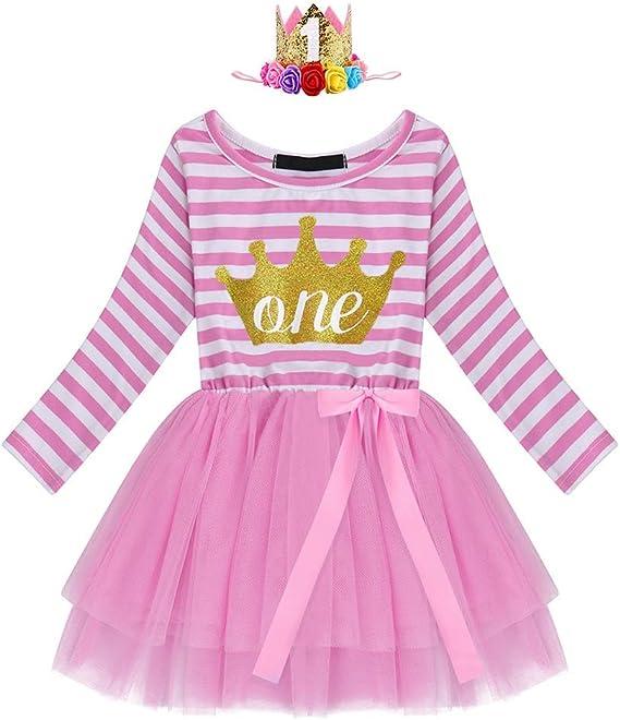 IBAKOM Baby M/ädchen Kleidung Geburtstag Outfit Prinzessin Rose Blume Herzform /Ärmellose Strampler Bodysuit Polka Dot Shorts