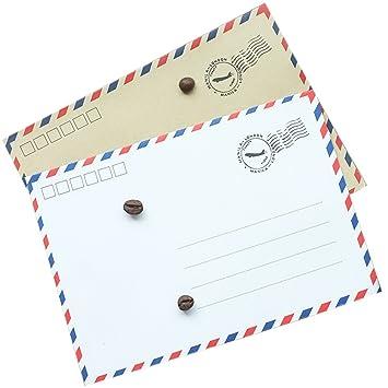 50 sobres de carta elaborados con papel kraft con diseño de ...